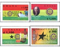 Ref. 318137 * MNH * - GHANA. 2001. 40 ANIVERSARIO DEL ROTARY CLUB DE GHANA - Ghana (1957-...)