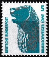 T.-P. Gommé Neuf** - Série Courante Curiosités Le Lion De Brunswick Braunschweiger Löwe - N° 1280 (Yvert) - RFA 1990 - [7] Federal Republic