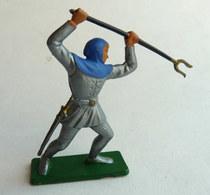 FIGURINE STARLUX -  SOLDAT MEDIEVAL CHEVALIER   MPC44 HOMME D'ARME FOURCHE 1969 - Starlux