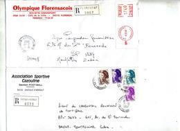 Lot 32 Lettre Recommandée Herault  2ieme Serie Entete Football à Voir - Marcophilie (Lettres)