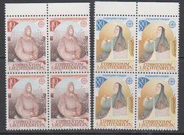 Europa Cept 1983 Liechtenstein 2v  Bl Of 4 ** Mnh (43815A) - 1983