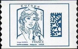 France Marianne De Ciappa Et Kawena Autoadhésif N° 1216,** Datamatrix - Europe Sans Indication De Poids - 2013-... Marianne (Ciappa-Kawena)