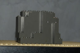 Lego Rocher Gris Foncé Ref 6082 4x10x6 - Lego Technic