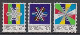 Liechtenstein 1983 Olympic Wintergames Sarajevo 3v ** Mnh (43815B) - Liechtenstein