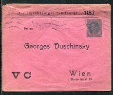 """Oesterreich / 1919 / Privatganzsachenumschlag """"Zur Eigenhaendigen Eroeffnung"""" O (20074) - Ganzsachen"""