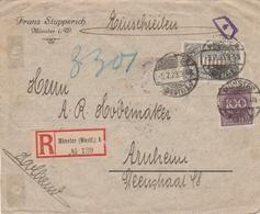Allemagne Lettre Recommandée Inflation Münster 1923 - Lettres & Documents