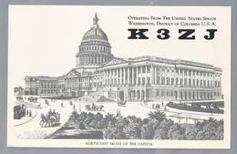 US.- QSL KAART. CARD. K3ZJ. DAVE SIDDALL, OPERATING FROM THE UNITED STATES SENATE WASHINGTON, DISTRICT OF COLUM - Radio-amateur