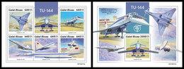 GUINEA BISSAU 2019 - Tupolev Tu-144. M/S + S/S. Official Issue - Guinea-Bissau
