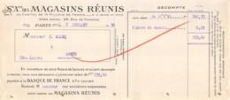 37-1137   1930 SOCIETE ANONYME DES MAGASINS REUNIS A PARIS - M. ALLEQ A AUZON - Lettres De Change