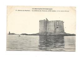 CPMJ1643  LA BRETAGNE PITTORESQUE RIVIERE DE MORLAIX LE CHATEAU DU TAUREAU (XVIE SIECLE ) OU FUT ENFERME BLANQUI - France