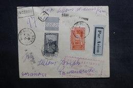 RÉUNION - Enveloppe Du Voyage D'étude Par Avion Réunion / Madagascar En 1938, Affranchissement Plaisant - L 36390 - Réunion (1852-1975)