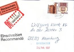 ! 2 Einschreiben Mit R-Zettel 1994 Aus 63303 Dreieich In Hessen, Neue Postleitzahl - BRD