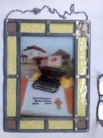 GLASRAAM IN LOOD 30,5/23cm VITRAIL * SCHEIDEGGER NEDERLAND 1961-1981* TYPEMACHINE SCHRIJFMACHINE DACTYLO RECLAME Z431 - Andere