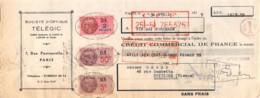 37-1383   1939 SOCIETE D OPTIQUE TELEGIC A PARIS - MAISON EMARD A POITIERS - Lettres De Change
