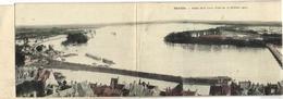 """Carte Panoramique 4 Volets Nevers """"pionnière"""" - Nevers"""