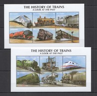R1396 GAMBIA TRANSPORT THE HISTORY OF TRAINS A LOOK AT THE PAST !!! 2KB MNH - Treinen