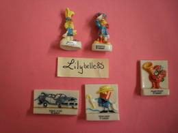 PRE Série Complète De 5 Feves Anciennes En Porcelaine - BONKERS 1996 ( Feve Figurine Miniature ) RARE - Disney