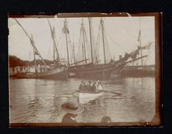 Fotografia Antiga FIGUEIRA Da FOZ Barco A Remos / Bacalhoeiros / Veleiro. Old Real Photo (Coimbra) 1900 PORTUGAL - Fotos