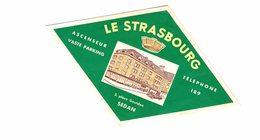 Vieux Papiers - Pub - Sedan - Hôtel  Le Strasbourg - Werbung