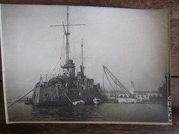 Carte Photo Cuirassé Marine Arsenal De Toulon 1917 - Toulon
