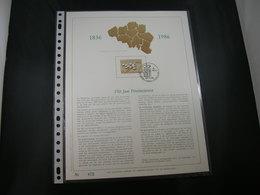 """BELG.1986 2231 FDC Filatelic Gold Card NL. : """" 150 JAAR PROVINCIEWET """" - FDC"""