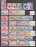 Grandes Séries Coloniales - Poste Aérienne 1942 Séries Completes - Sans Gomme - Cote 64 Euros Prix De Départ 15 Euros - France (ex-colonies & Protectorats)