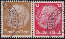 Deutsches  Reich   .    Michel   .     W 80      .    O      .     Gebraucht  .   /  .   Cancelled - Zusammendrucke