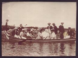 Fotografia Antiga FIGUEIRA Da FOZ Grupo Num Barco A Remos. Old Real Photo (Coimbra) 1900s PORTUGAL - Fotos