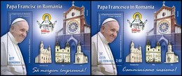 ROMANIA, VATICAN, 2019, Visit Of Pope Francis To Romania, Joint Issues, Popes, Souvenir Sheet, MNH (**) LPMP 2241, 2241a - 1948-.... Repubbliche