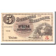 Billet, Suède, 5 Kronor, 1949, 1949, KM:33af, B+ - Suède