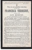 Verbeure Francisca (100 Jarige) Wingene 1902 - Religion & Esotérisme