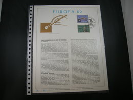 """BELG.1982 2048/2049 FDC Filatelic Gold Card FR. : """" EUROPA 82 """" - 1981-90"""