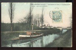 33 CPA  LAUBARDEMONT - ENVIRONS COUTRAS - LES BORDS DU CANAL - CIRCULE 1906 - PÉNICHE - JOLIE CARTE - Francia