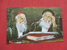 Art Work By Morris Katz- Two Scholars    Ref 3508 - Jewish