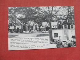 Leonard's Motor Court    Fayetteville- North Carolina    Ref 3509 - Fayetteville
