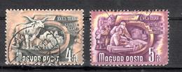 Hongarije 1950 Mi Nr  1080 + 1081: Veeteelt En Planning - Hongarije