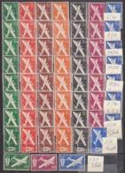 Grandes Séries Coloniales - Poste Aérienne 1942 Séries Completes - Charniere - Cote 92 Euros Prix De Départ 23 Euros - France (ex-colonies & Protectorats)