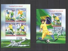 ST2699 2014 NIGER SPORT FOOTBALL WORLD CUP BRAZIL KB+BL MNH - 2014 – Brasilien