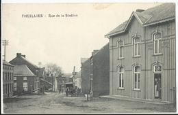 THUILLIES - Rue De La Station - Négociant En Tabac Attelage (rare) - Thuin