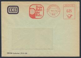 """Deutschland Germany 1974 Adressband - DB - """"Freie Bahn Der Bahn"""", Regensburg - Treinen"""