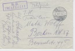 German Feldpost WW1: From A Leutenant In I. Batl. (s.F.H.) 1. Garde Korps P/m Feldpostamt KB 1. Armeekorps 18.11.1915 - Militaria