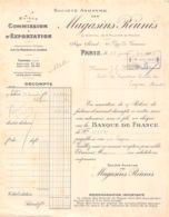 38-1101     1919 MAISON DE COMMISSION ET D EXPORTATION SOCIETE ANONYME DES MAGASINS REUNIS A PARIS - M. MONNET A COGNAC - France