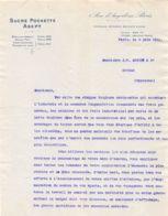 38-1112     1911 SUCRE POCHETTE ASEPT A PARIS - M. MONNET A COGNAC - France