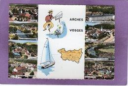 88 ARCHES  Multivues Edition LAPIE  Pas Courante Vue Aérienne L'Usine Le Centre L'Ecole Vosgienne Du Batiment - Arches