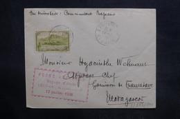 RÉUNION - Enveloppe Du Voyage D'étude Par Avion Réunion / Madagascar En 1938, Affranchissement Plaisant - L 36420 - Réunion (1852-1975)