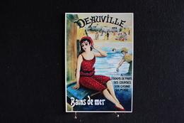 Z 76 / Dessin - Signés, Trebor - La Belle Epoque - Dauville, Bain De Mer - Illustrateurs & Photographes