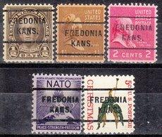 USA Precancel Vorausentwertung Preo, Locals Kansas, Fredonia 225, Perf. 5 Diff., Perf. 11x10 1/2 - Vereinigte Staaten