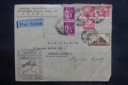 FRANCE - Enveloppe De L 'Inauguration Du Service Aérien Hebdomadaire Europe / Amérique Du Sud En 1936 - L 36422 - Air Post