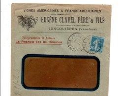 LETTRE A EN TETE DE JONCQUIERES VAUCLUSE 1924 - Marcophilie (Lettres)