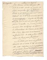 D'Angervilliers  1736   Sabran Perrine , Condamné à 15 Ans De Prison ( Fort Quarré Antibes ) Tribunal Des Maréchaux - Autogramme & Autographen